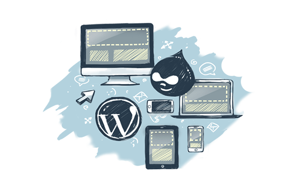 Responsive design for Wordpress or Drupal
